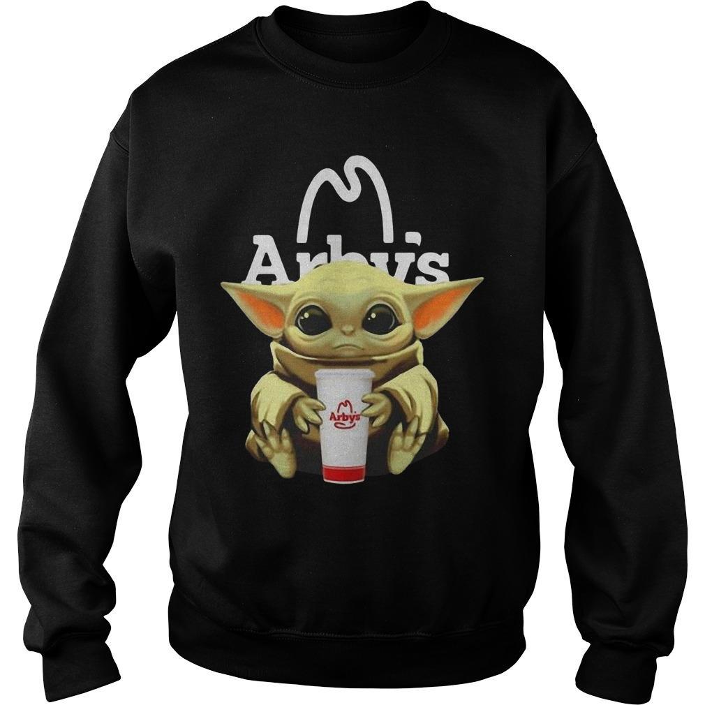 Baby Yoda Hugging Arby Sweater