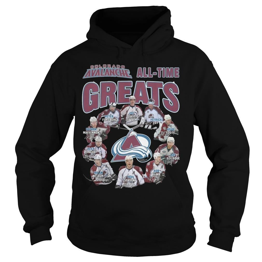 Colorado Avalanche All Time Greats Hoodie