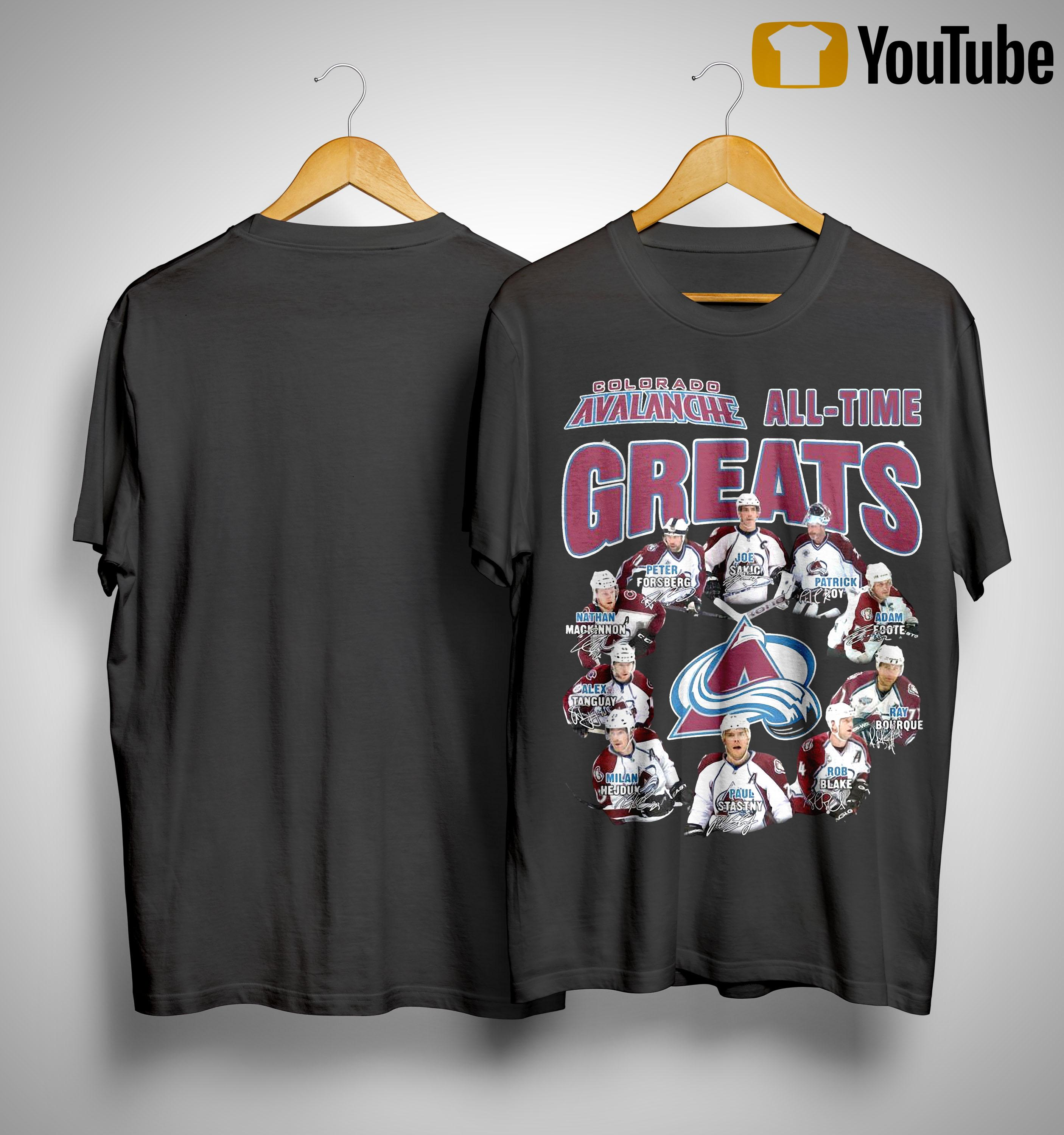 Colorado Avalanche All Time Greats Shirt