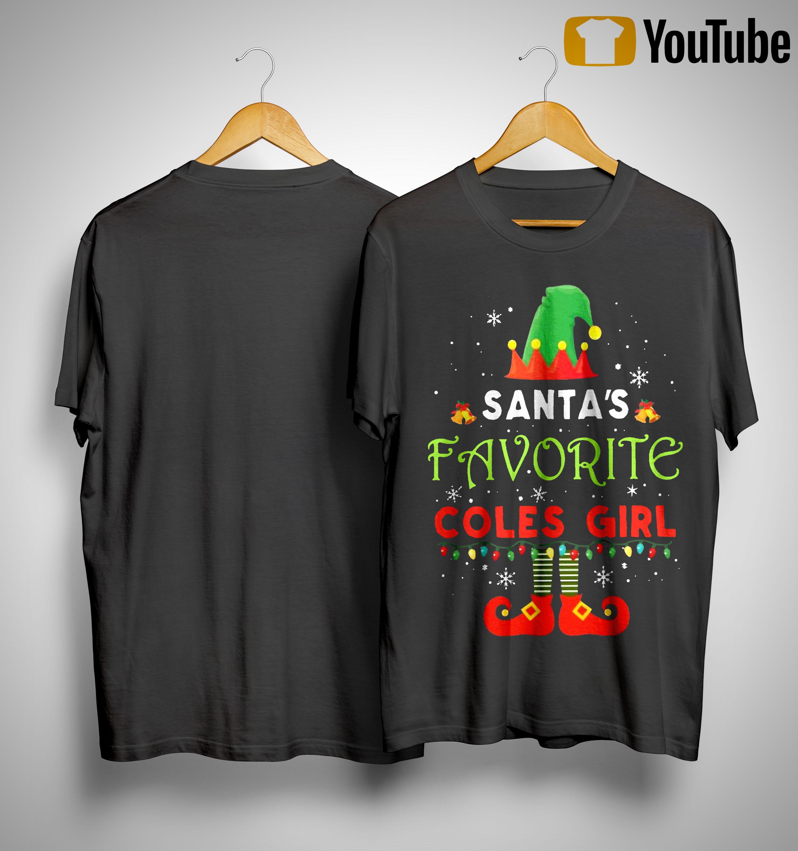 Elf Santa's Favourite Coles Girl Shirt