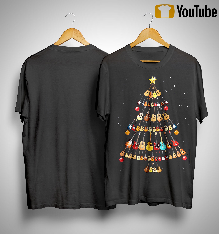 Guitar Christmas Tree Shirt
