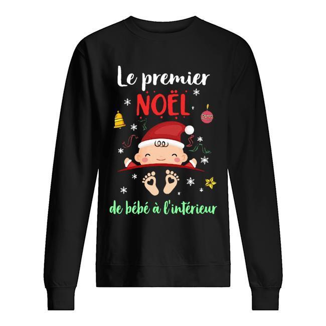 Le Premier Noel De Bébé À L'intérieur Sweater