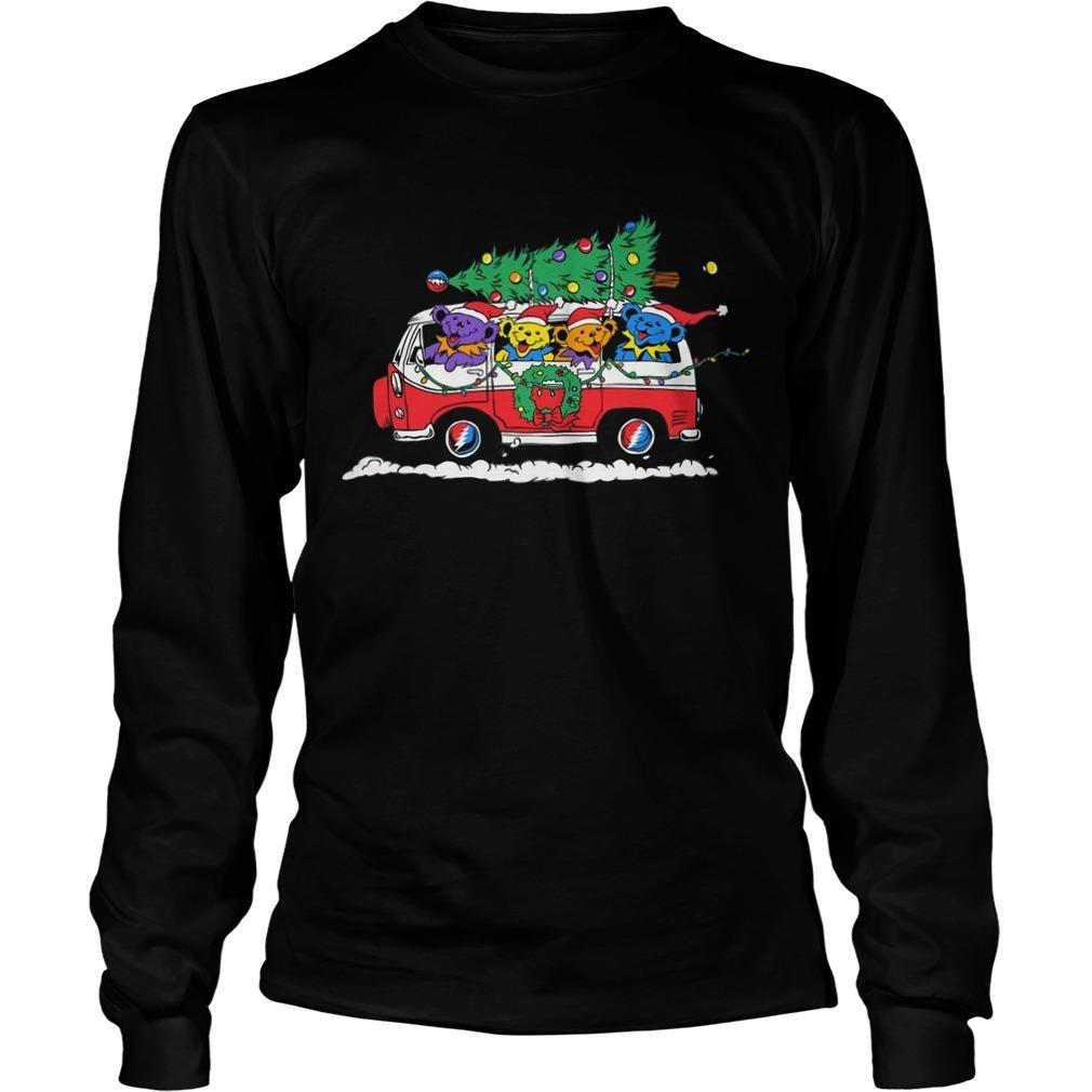 Little Bears On Truck Merry Christmas Longsleeve