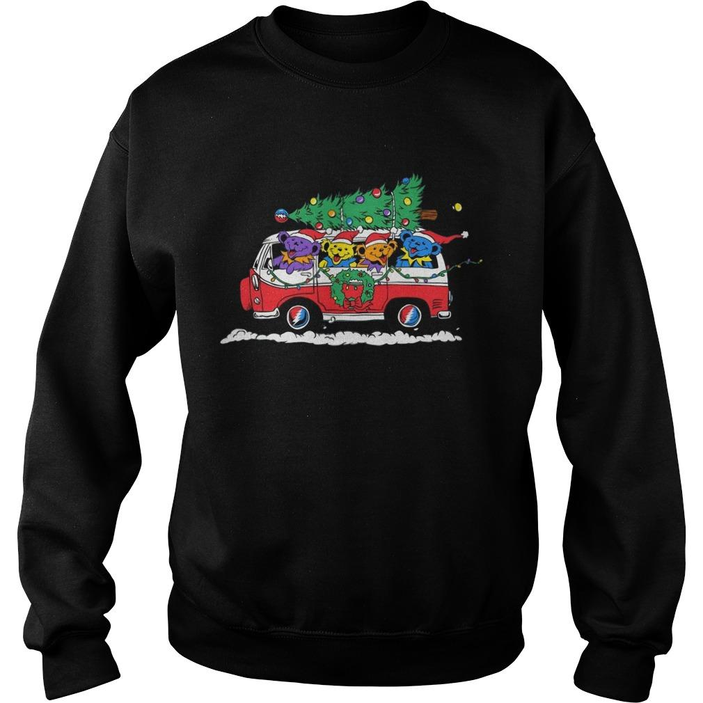 Little Bears On Truck Merry Christmas Sweater