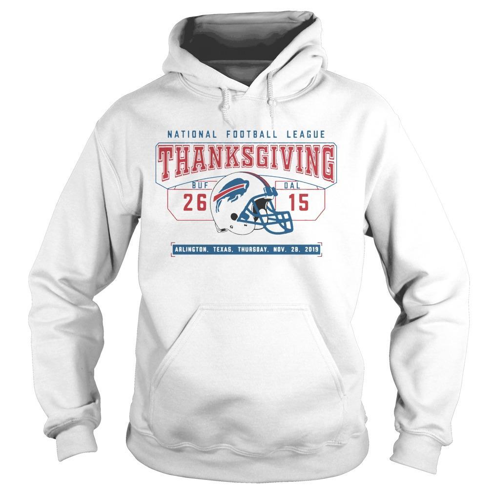 National Football League Thanksgiving Buf 26 Dal 15 Hoodie