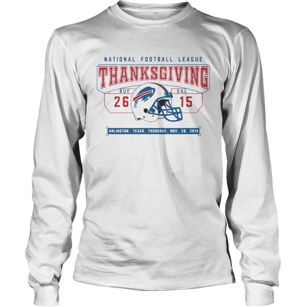 National Football League Thanksgiving Buf 26 Dal 15 Longsleeve