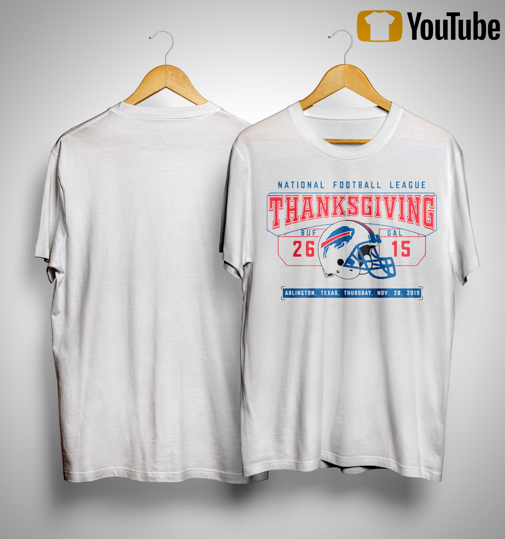 National Football League Thanksgiving Buf 26 Dal 15 Shirt