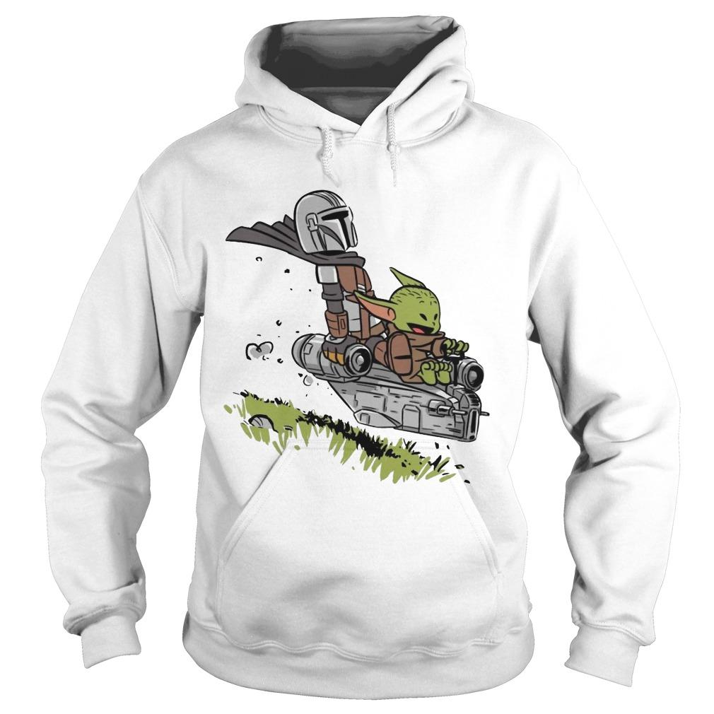 Stormtrooper And Baby Yoda Driving Hoodie