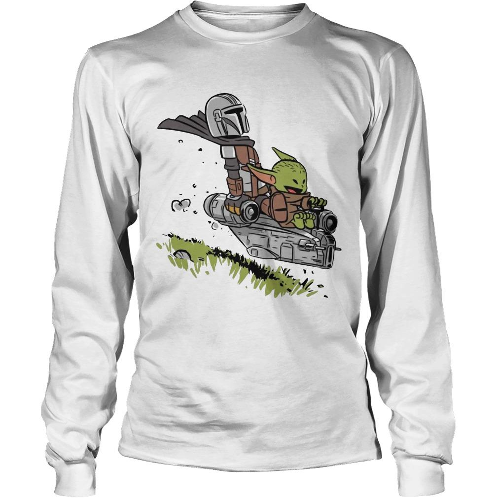 Stormtrooper And Baby Yoda Driving Longsleeve