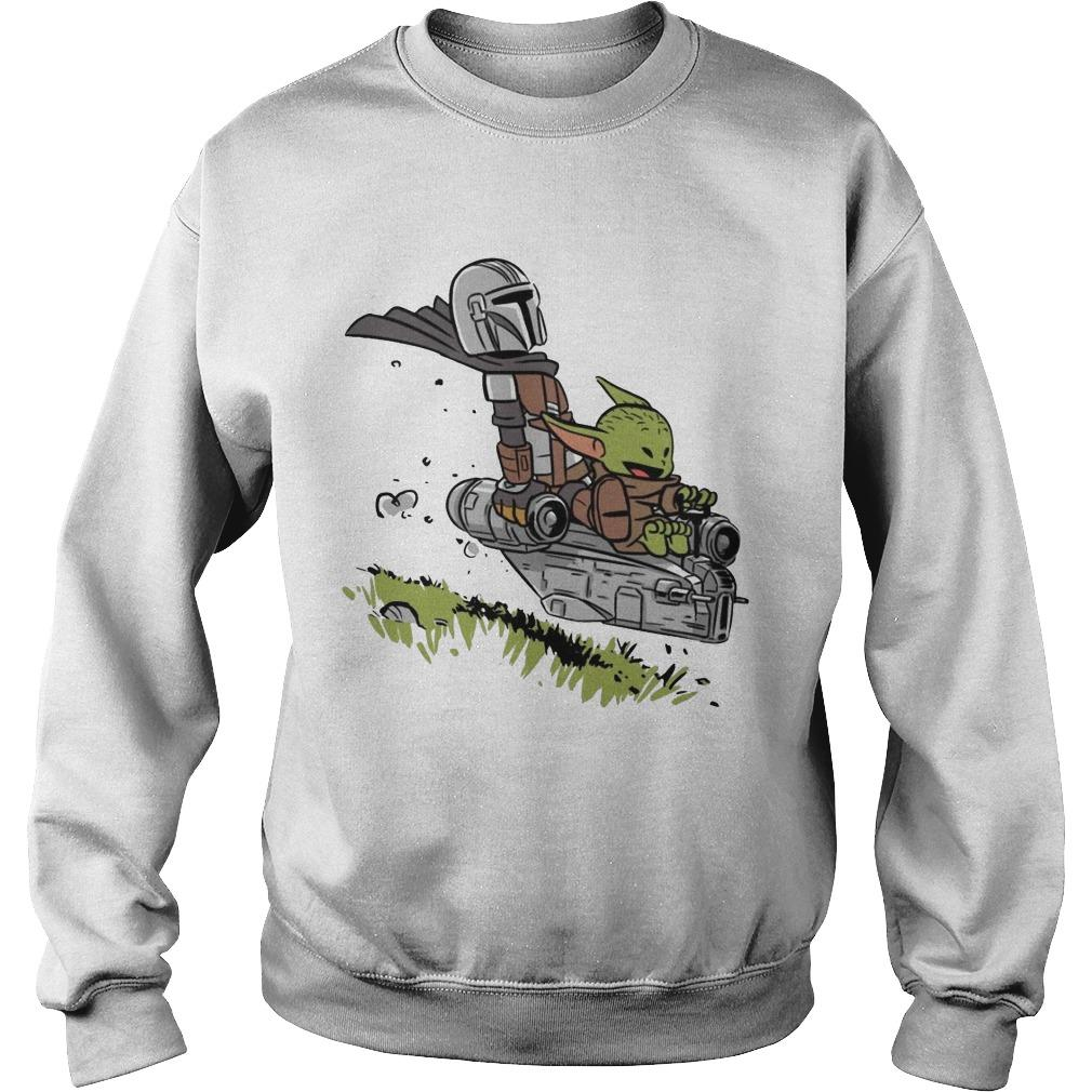 Stormtrooper And Baby Yoda Driving Sweater