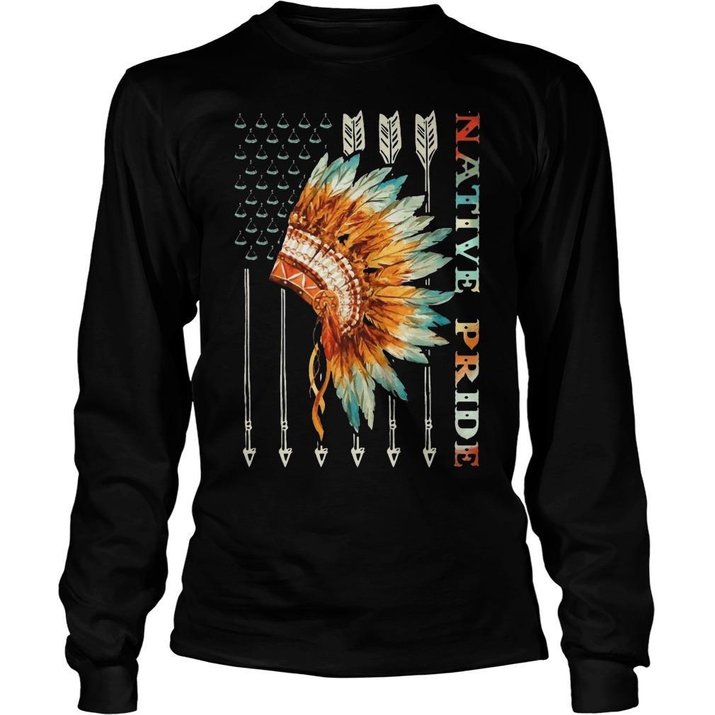 American Flag Native Pride Longsleeve