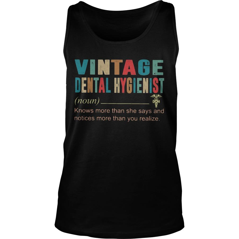 Vintage Dental Hygienist Knows More Than She Says And Notices More Tank Top