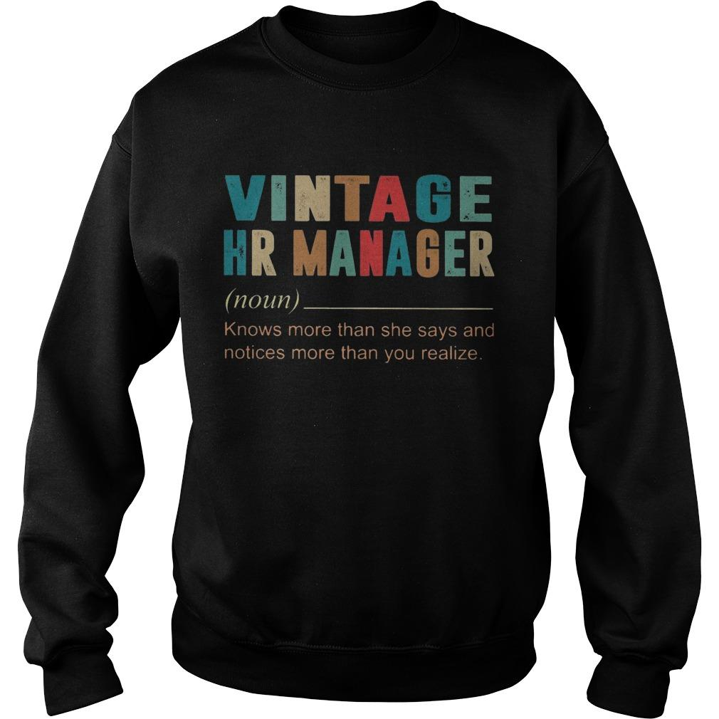 Vintage Hr Manager Knows More Then She Says And Notices More Sweater