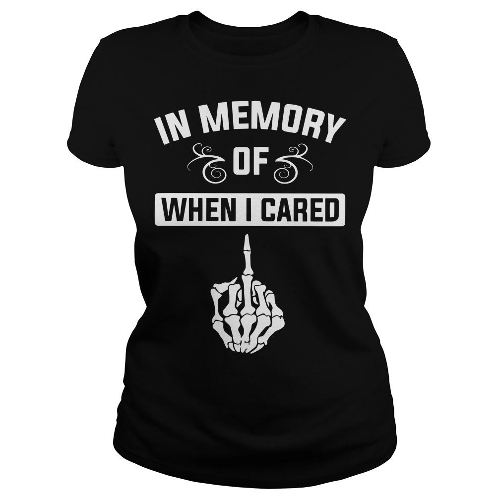 Middle Finger In Memory Of When I Cared Longsleeve