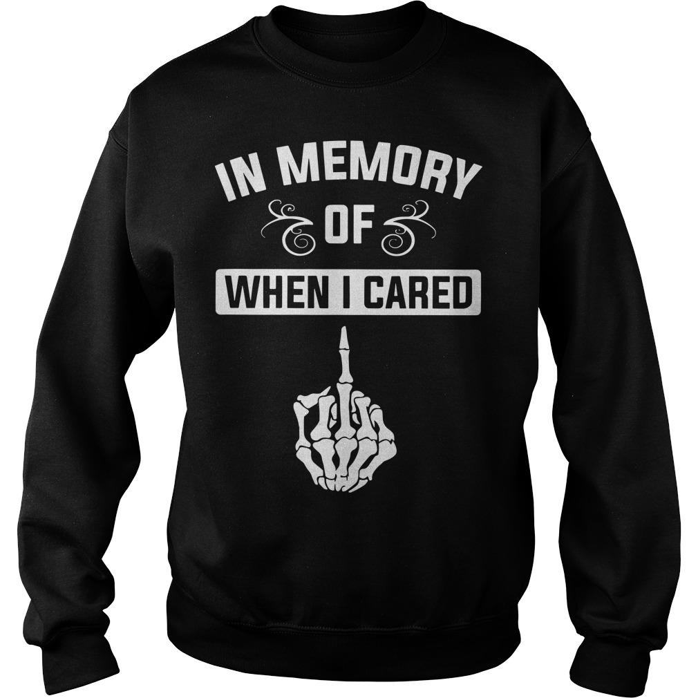 Middle Finger In Memory Of When I Cared Sweater