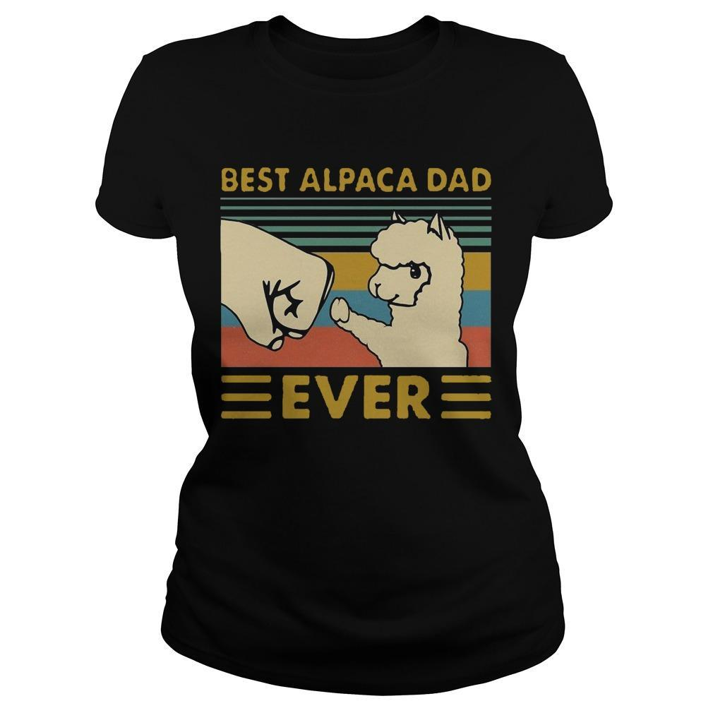 Vintage Best Alpaca Dad Ever Longsleeve