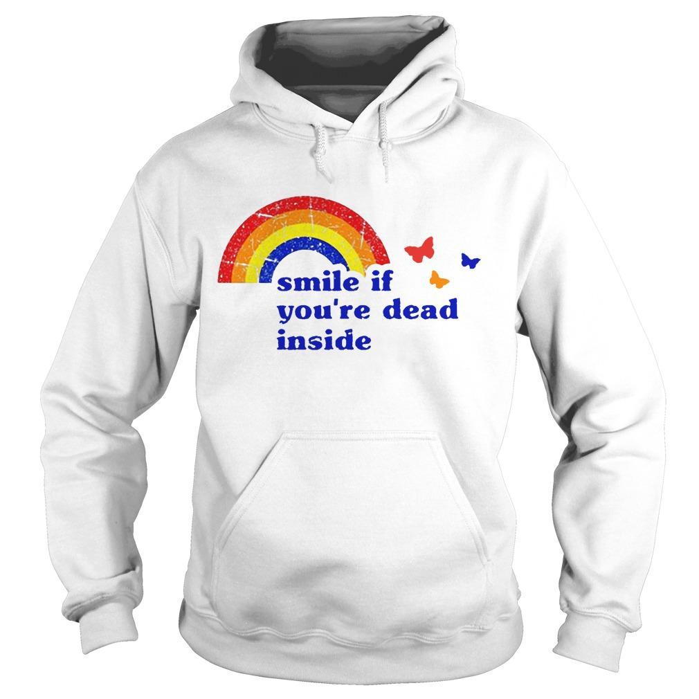 Vintage Rainbow Smile If You're Dead Inside Hoodie