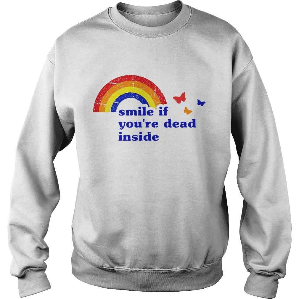 Vintage Rainbow Smile If You're Dead Inside Sweater