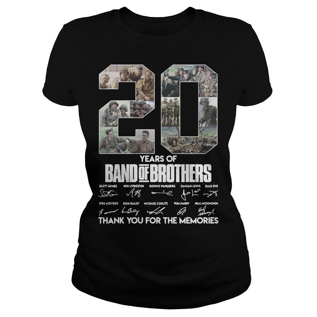 20 Years Of Band Of Brothers Thank You For The Memories Signature Longsleeve
