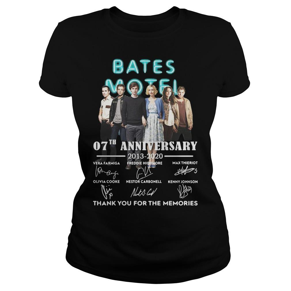 Bates Motel 07th Anniversary 2013 2020 All Signature Thank You For The Memories Longsleeve