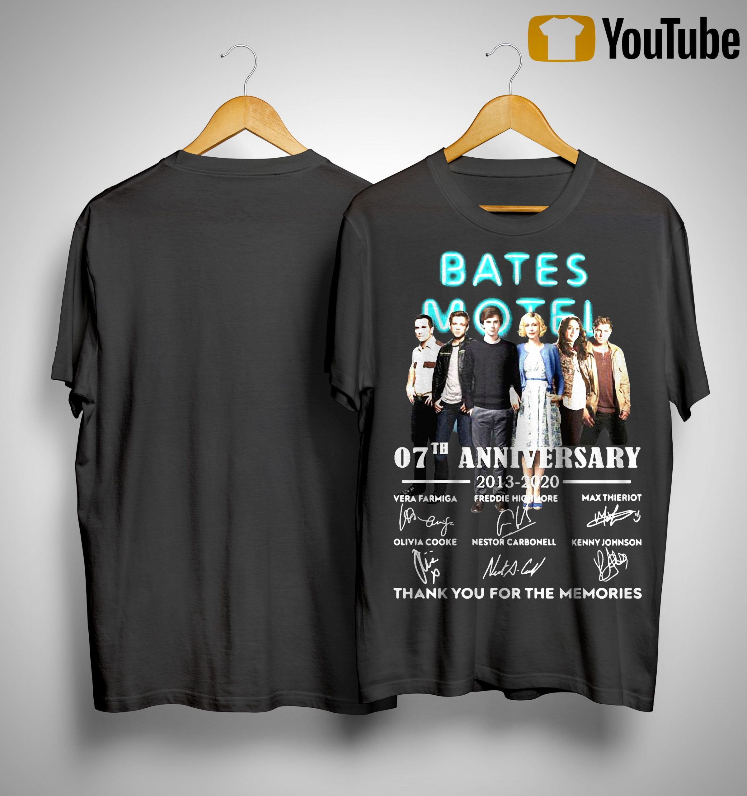 Bates Motel 07th Anniversary 2013 2020 All Signature Thank You For The Memories Shirt