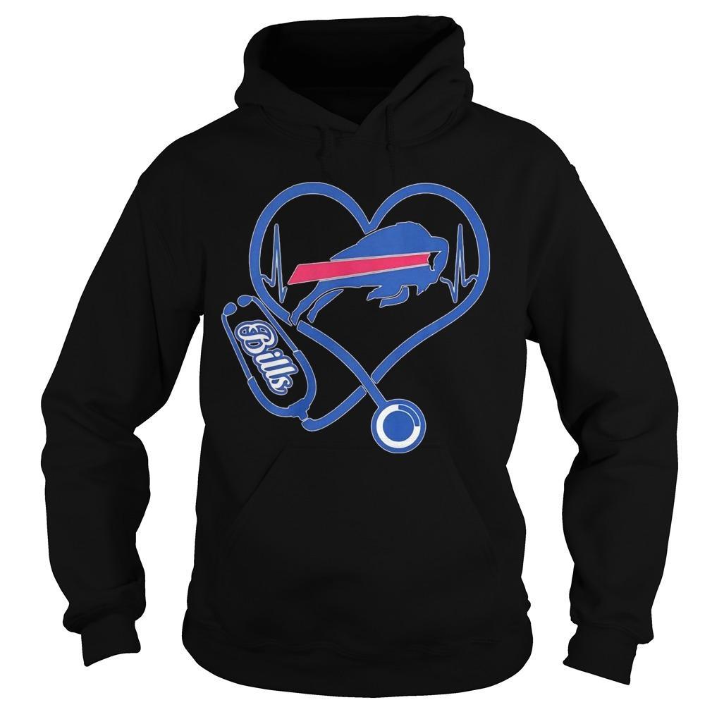 Buffalo Bills Nurse Stethoscope Heart Hoodie