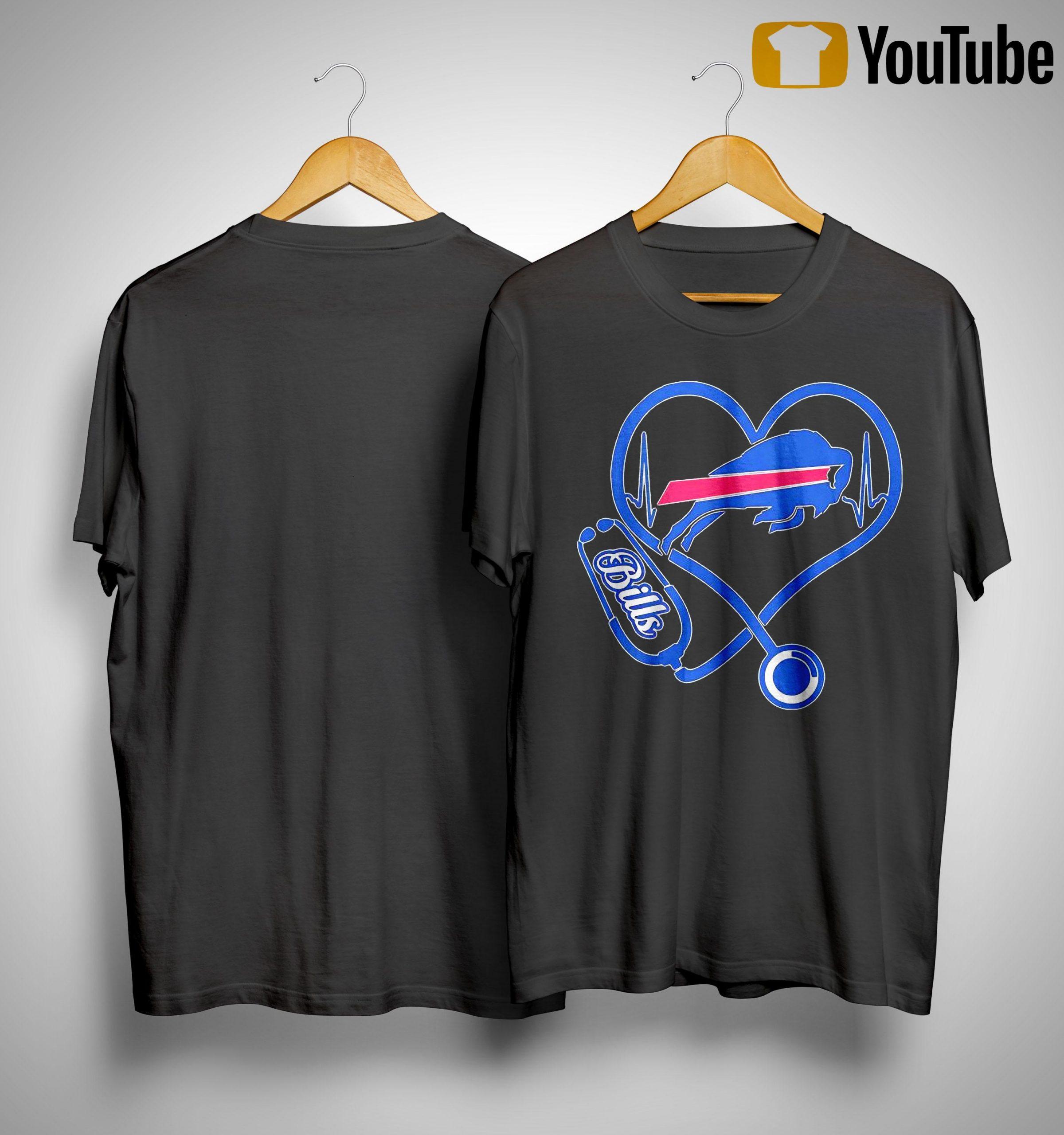 Buffalo Bills Nurse Stethoscope Heart Shirt