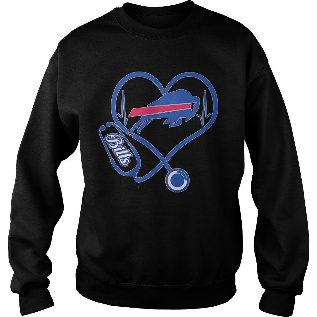 Buffalo Bills Nurse Stethoscope Heart Sweater