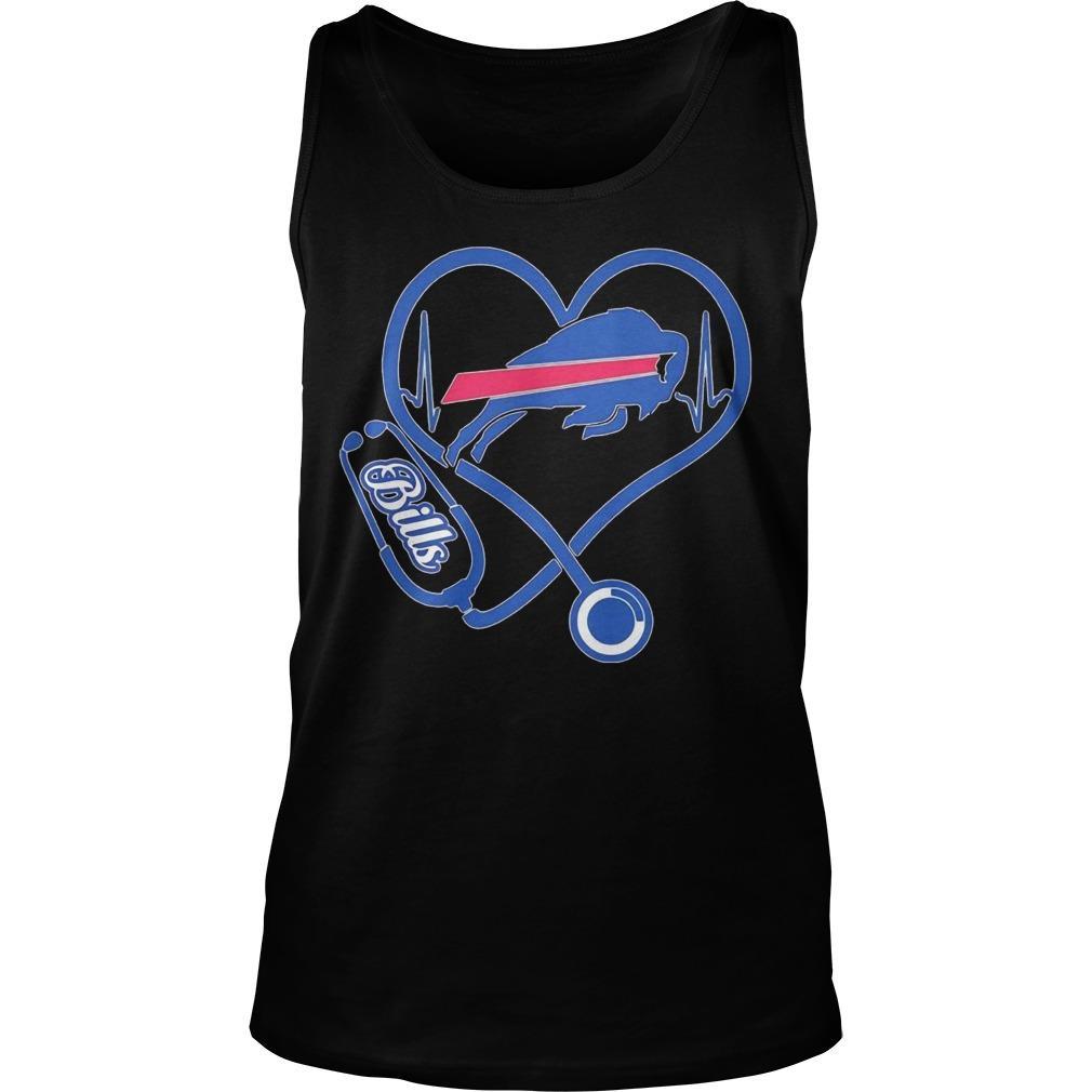 Buffalo Bills Nurse Stethoscope Heart Tank Top