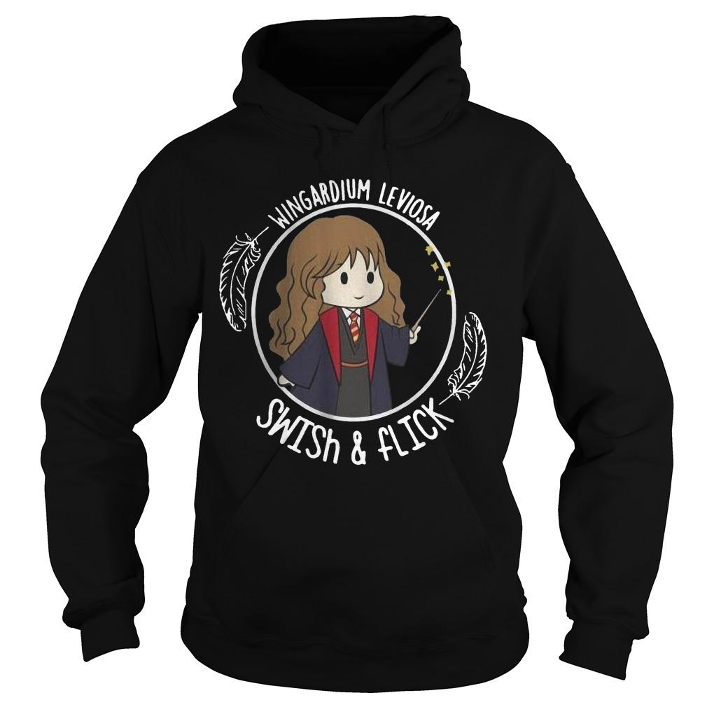 Hermione Wingardium Leviosa Swish And Flick Hoodie