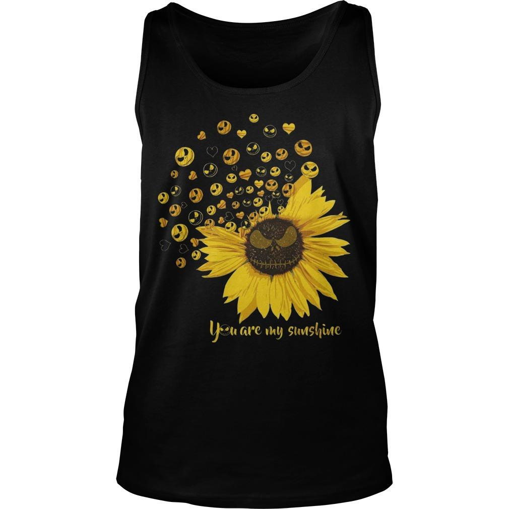 Jack Skellington Sunflower You Are My Sunshine Tank Top