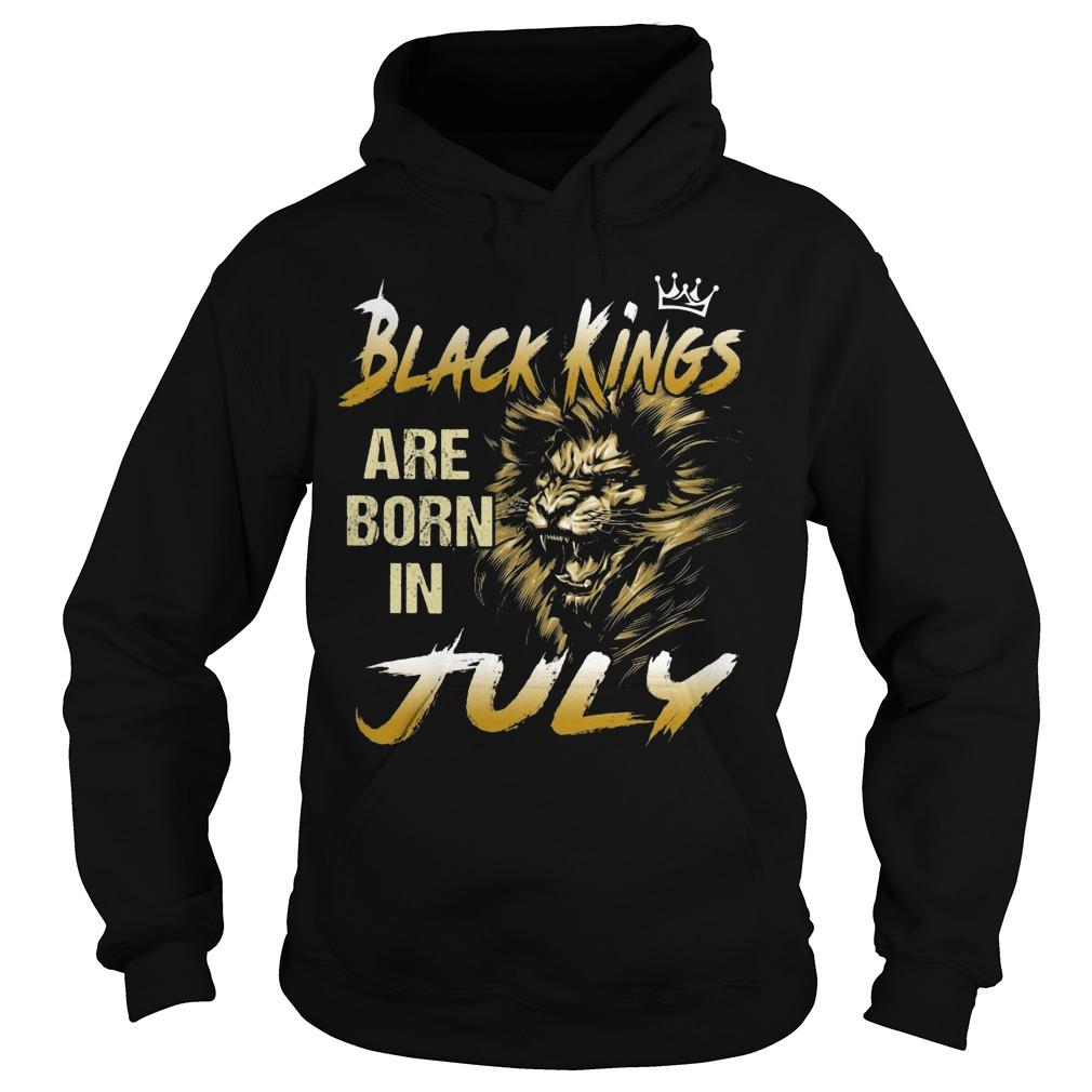 Lion Black Kings Are Born In July Hoodie
