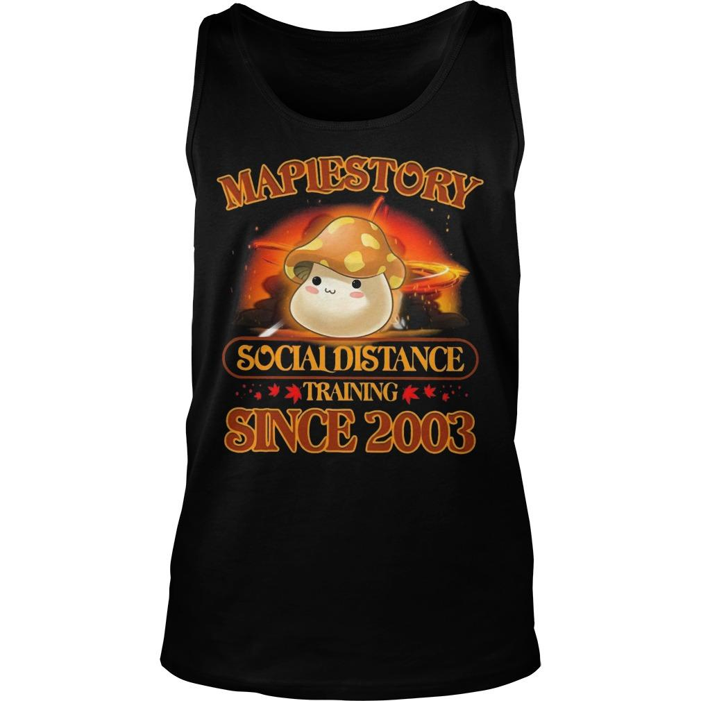 Maplestory Social Distance Training Since 2003 Tank Top