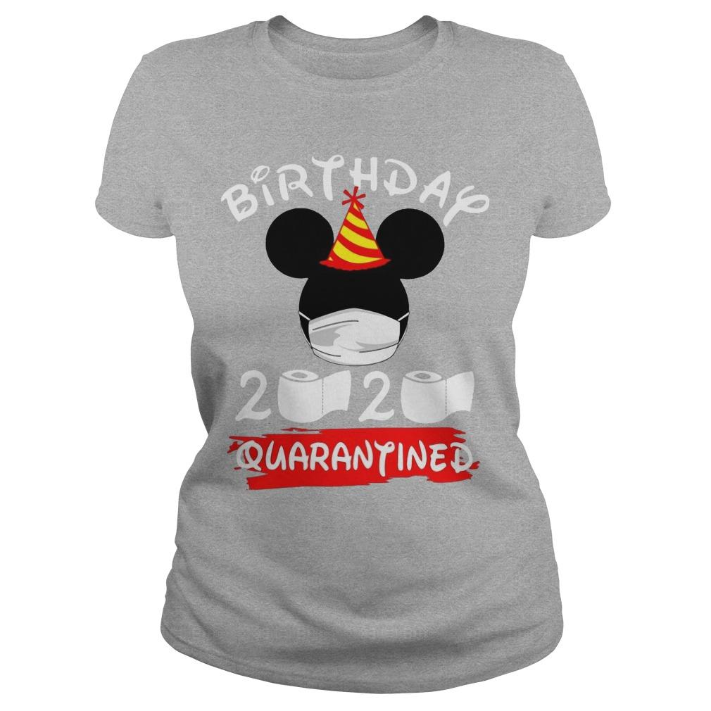 Mickey Mask Birthday 2020 Quarantined Longsleeve