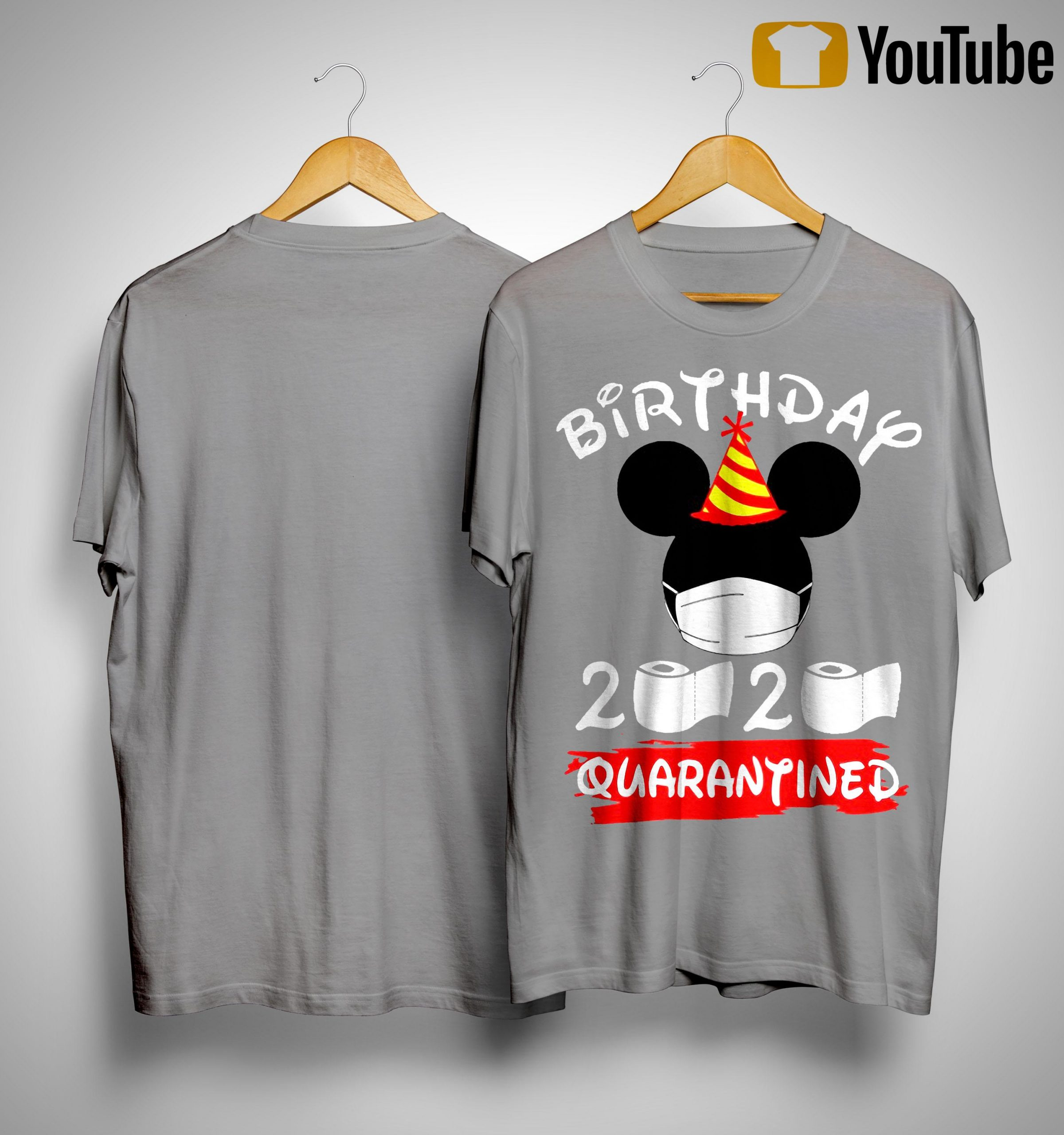 Mickey Mask Birthday 2020 Quarantined Shirt