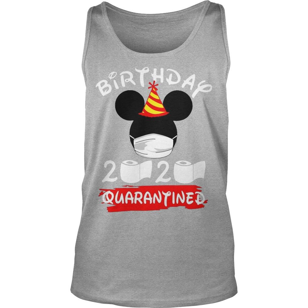 Mickey Mask Birthday 2020 Quarantined Tank Top
