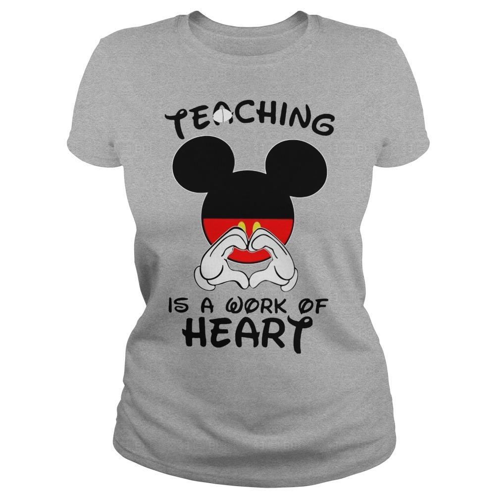 Mickey Teaching Is A Work Of Heart Longsleeve