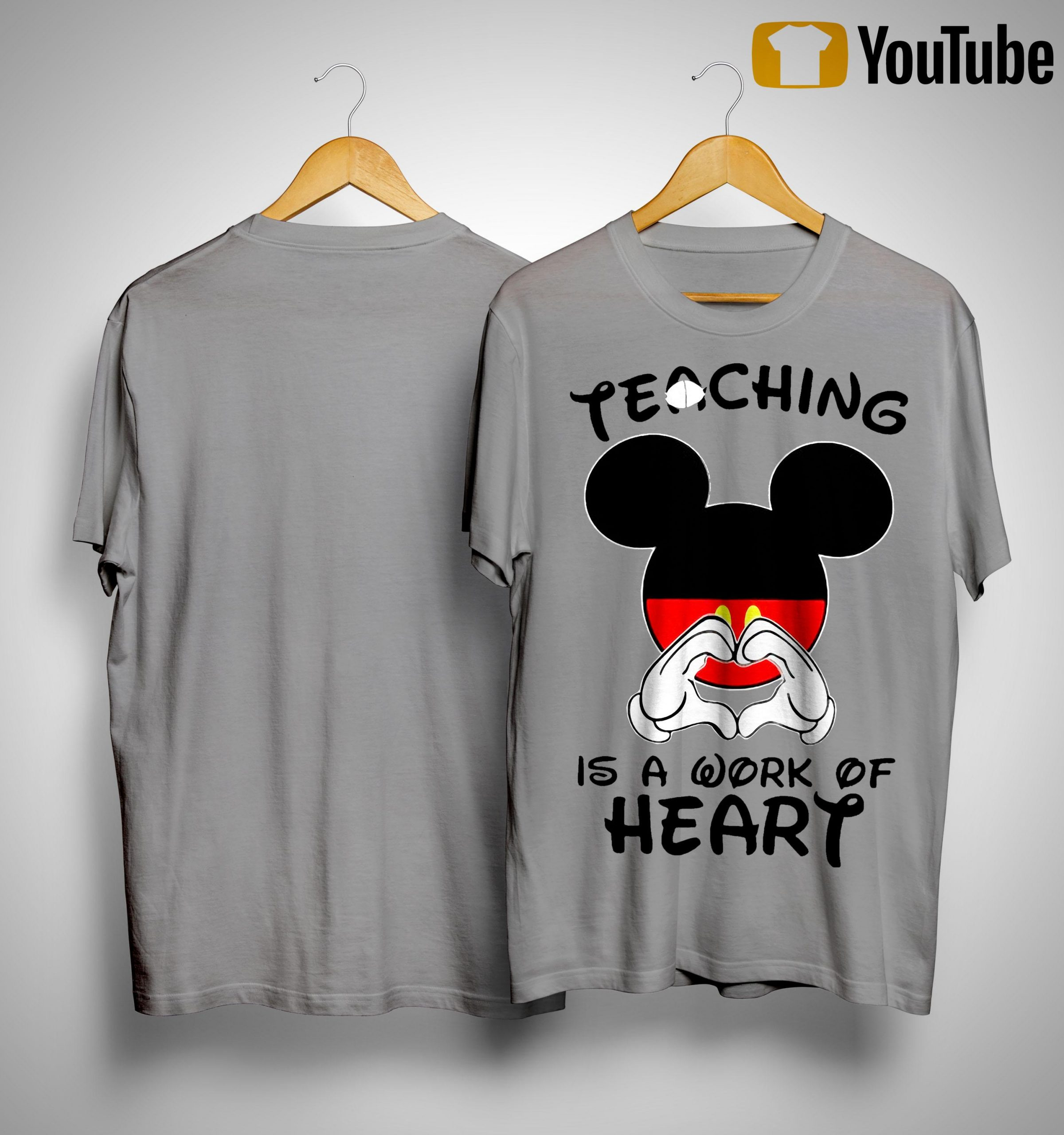 Mickey Teaching Is A Work Of Heart Shirt