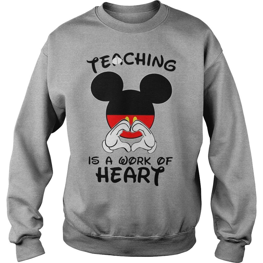 Mickey Teaching Is A Work Of Heart Sweater