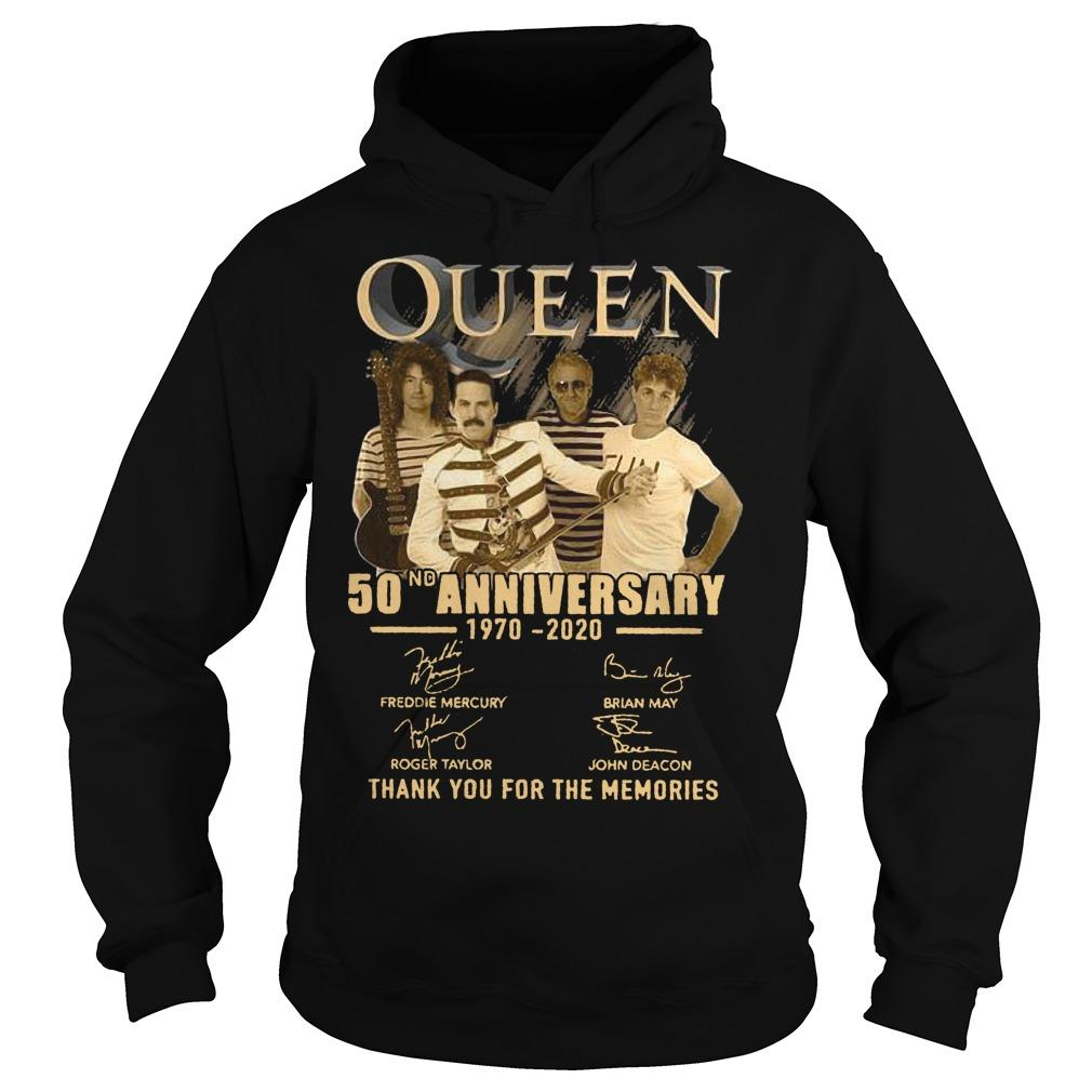 Queen 50nd Anniversary 1970 2020 Thank You For The Memories Hoodie