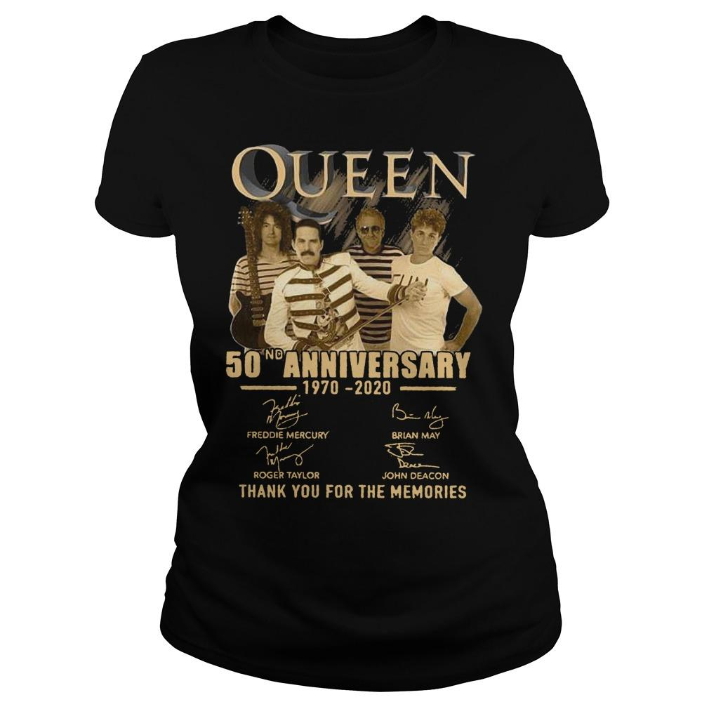 Queen 50nd Anniversary 1970 2020 Thank You For The Memories Longsleeve