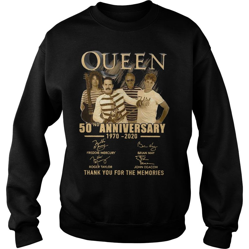 Queen 50nd Anniversary 1970 2020 Thank You For The Memories Sweater