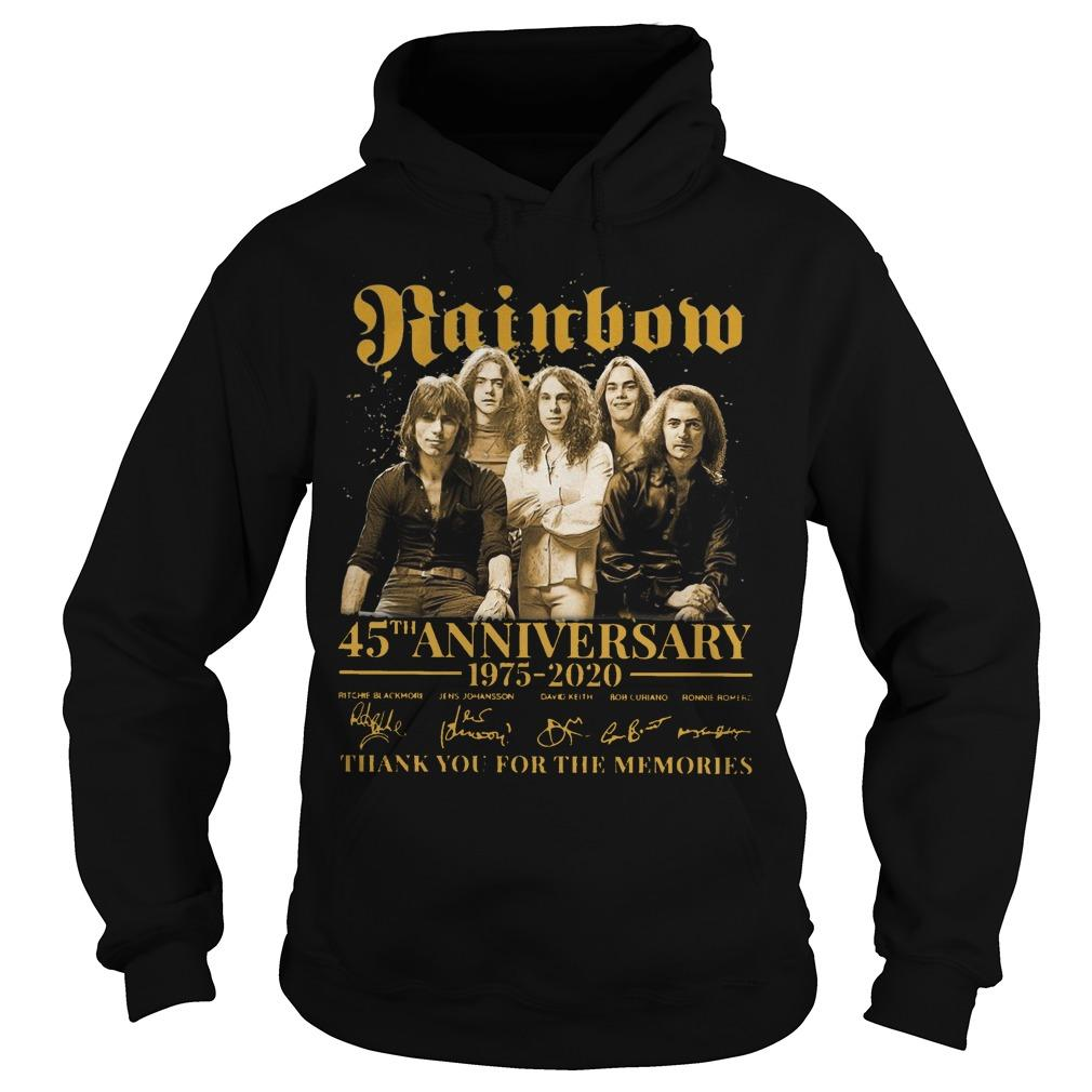 Rainbow 45th Anniversary 1975 2020 Thank You For The Memories Hoodie