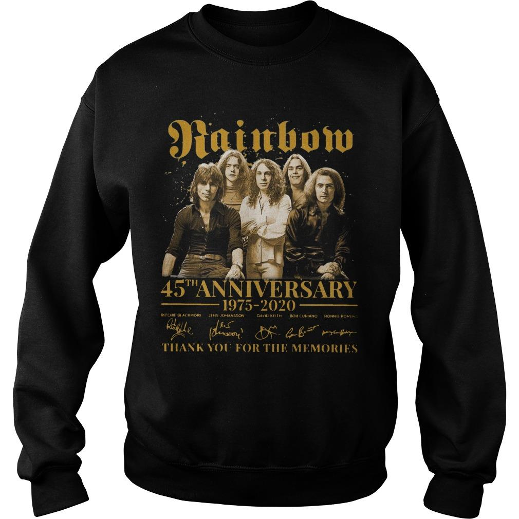 Rainbow 45th Anniversary 1975 2020 Thank You For The Memories Sweater