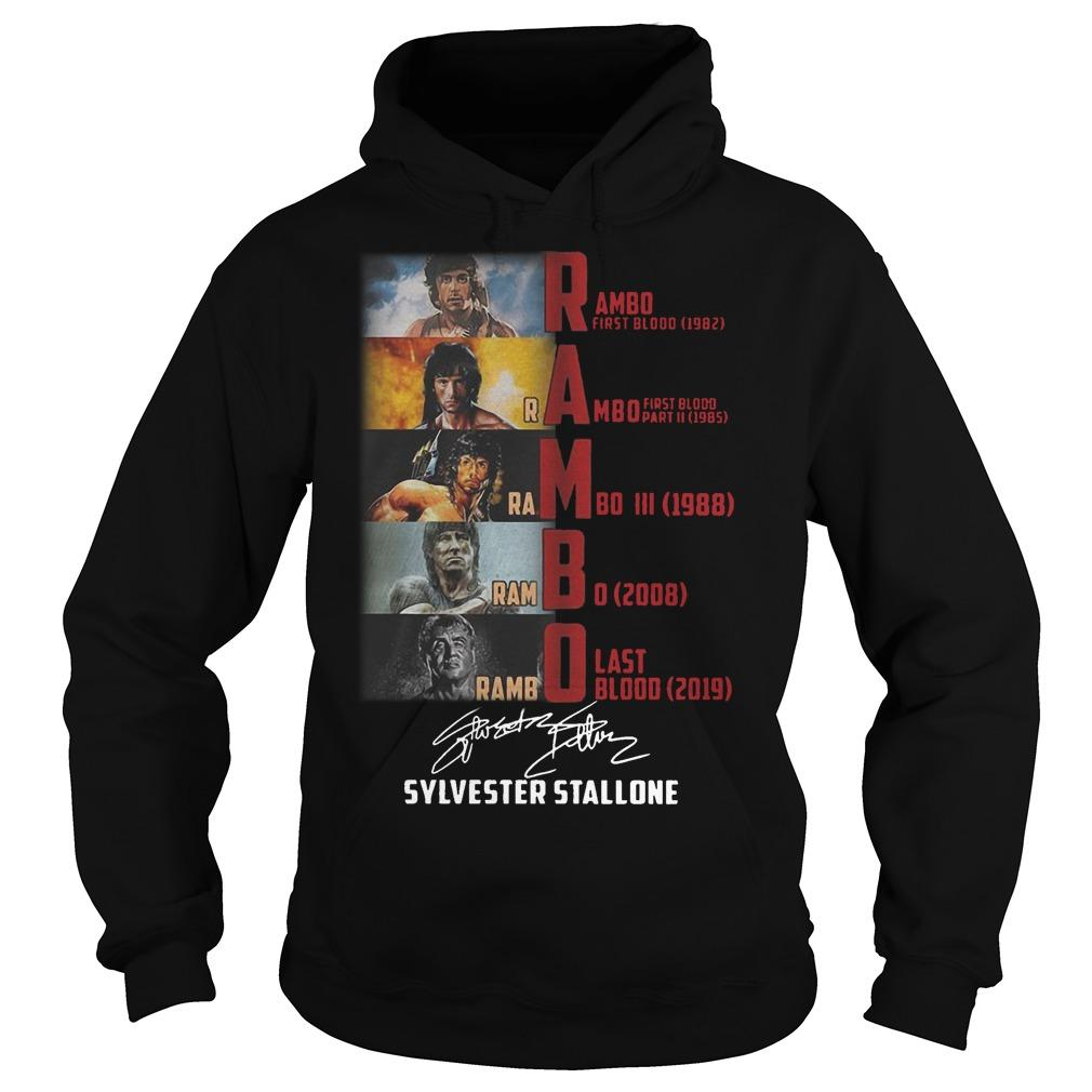 Rambo First Blood 1982 Rambo Last Blood 2019 Sylvester Stallone Hoodie