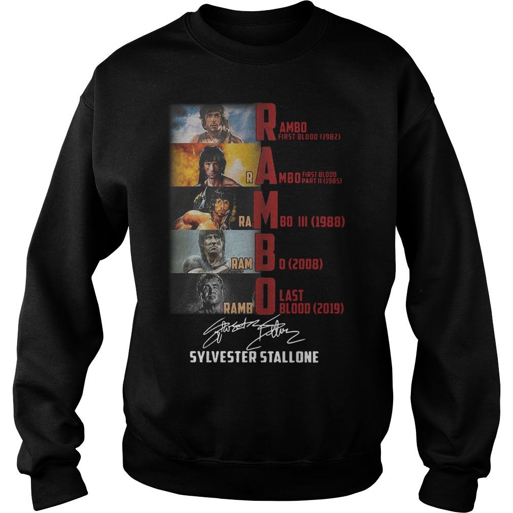 Rambo First Blood 1982 Rambo Last Blood 2019 Sylvester Stallone Sweater