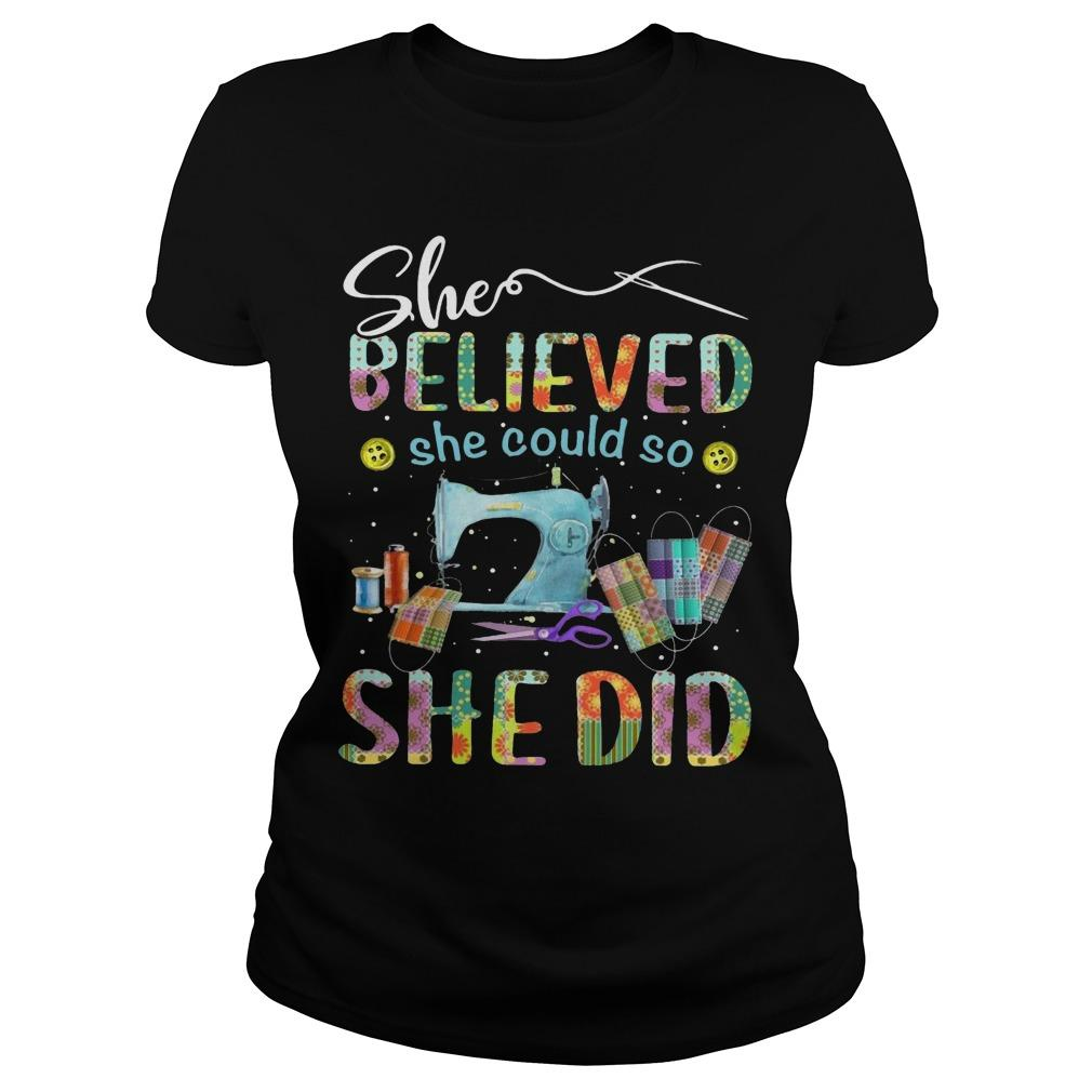 Sewing She Believed She Could So She Did Longsleeve