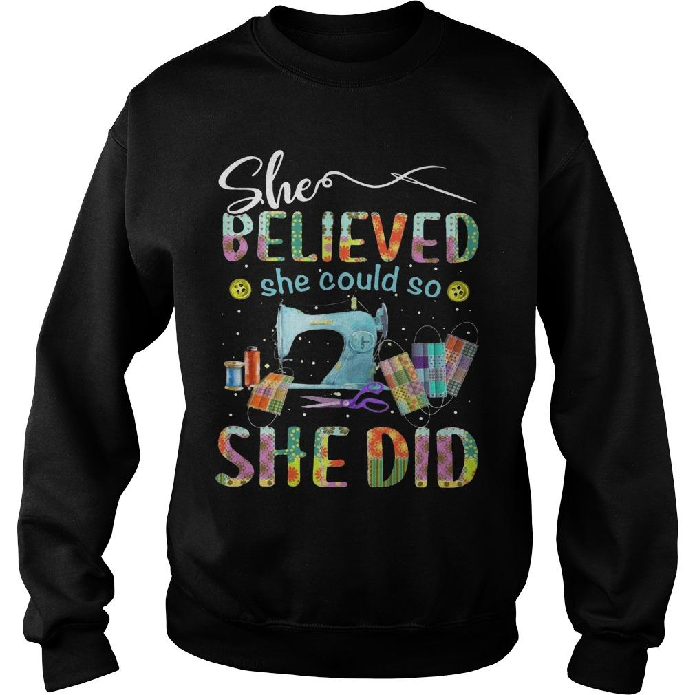 Sewing She Believed She Could So She Did Sweater