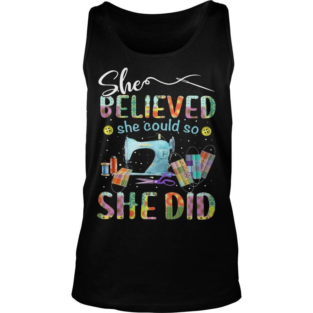 Sewing She Believed She Could So She Did Tank Top