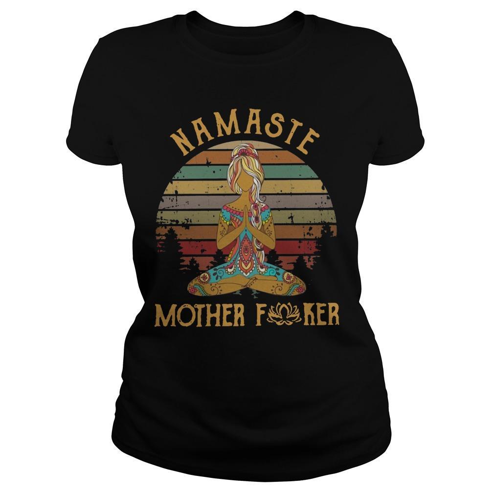 Vintage Namaste Mother Fucker Longsleeve